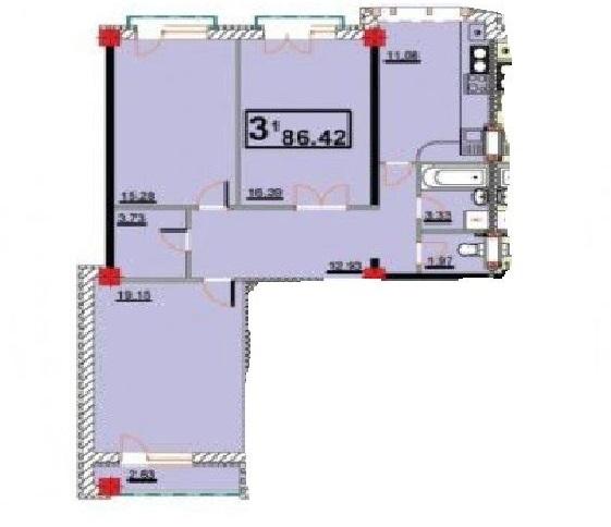 Apartament, 3 odai, 87m2, Telecentru